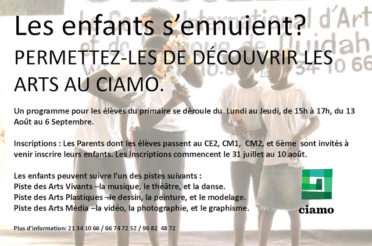 Inscriptions au programme CIAMO Découverte Junior